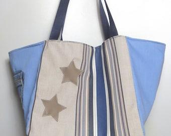 bag beige ,blue