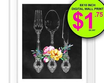 Kitchen Print, 8x10 Inch, Instant Download, Digital Print