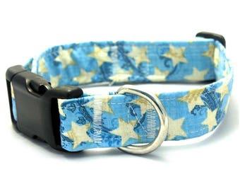 Blue Paisley Star Collar