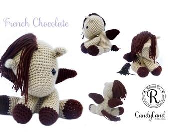 Tan Horse Unicorn Pegasus Pegacorn Plush Toy