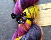 Hand dyed BFL sock yarn 100g Beast of Bodmin
