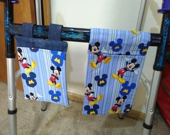 Walker Pouches - Mickey Mouse pattern
