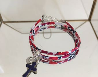 Bracelet liberty wiltshire red double rounds