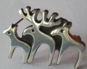 Silpada Sterling Moose Pin