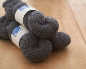 Dark slate grey Border Leicester Yarn  in DK