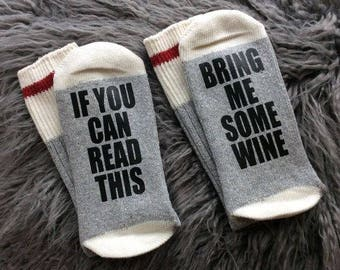 Wine Socks - It's My Birthday Socks - Bring me Wine Socks - Bring me the Bottle Socks - Bring me Some Wine - Wine Gifts - Novelty Socks