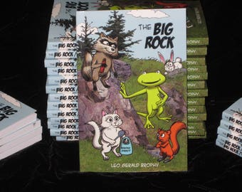 The Big Rock Volume 1 Comic Strip kids book. For children 8-12 and up. 128 Black & White Pages. First Edition