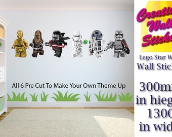 Lego Star Wars 6 wall art stickers Childrens Bedroom Film Stripe decal wall art.