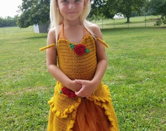 The Ball dress pattern . Is for 4 to 6 year old girls . In the pattern i added a instructions for a removable tulle wrap and two rose size