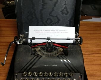 1946 Smith Corona Sterling typewriter with case and key!