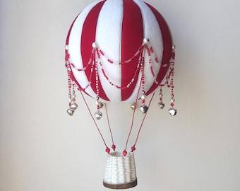 Hot air balloon model, Decorative Hot air balloons,  textile hot air balloon, Handmade Hot Air Balloon Mobile