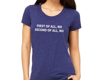 Just No Ladies' short sleeve t-shirt