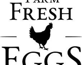 Farm Fresh Eggs-Svg cut file