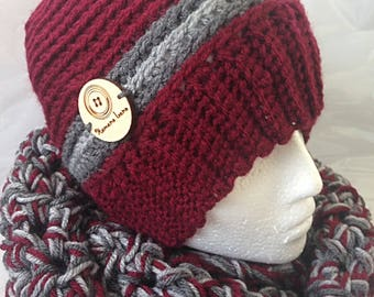 Set hat, beanie and scarf endless