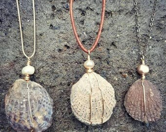 Fossilized Clam Necklace