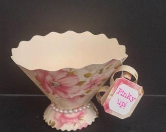 Tea party, shabby chic, tea cup favors, wedding, birthday, team party bridal, Alice & Wonderland, candy cups, favor box