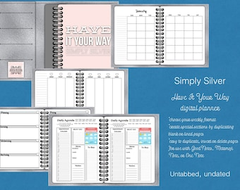 Have It Your Way Untabbed Simply Silver for GoodNotes, Metamoji Note, OneNote