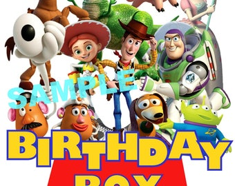 Toy Story Birthday Iron On Shirt Transfer, Disney Jessie Woody Buzz Lightyear tshirt or clip art printable, Birthday Boy