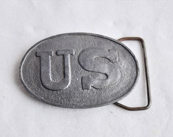 Cast Iron US  Belt Buckle / Belt Buckle