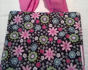 Floral on the go coloring tote