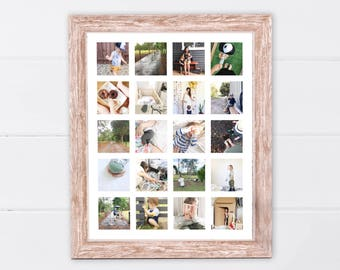 Printable Instagram Storyboard | Printable Instagram Poster | Printable Photo Wall Art