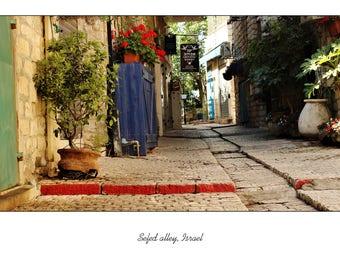 Safed Alley, Israel Blank Card