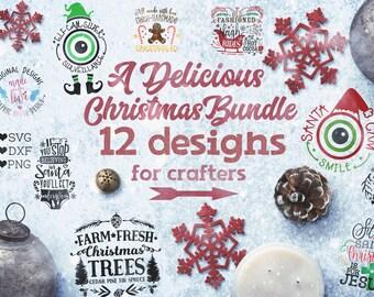 Christmas svg, Christmas bundle svg, Christmas Bundle svg files, Christmas cut files in svg, dxf, png, svg Christmas designs, Christmas dxf
