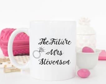 Personalised Wedding mug - The Future Mrs