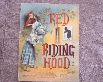 Antique Book Red Riding Hood Linen McLoughlin Bros Book 1880's