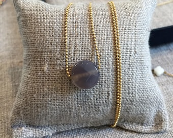 Grey Quartz necklace