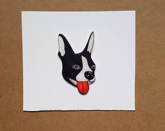 Boston Terrier Dog Pin Handmade