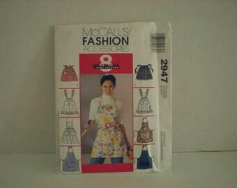 McCalls 2947 Fashion Accessories Pattern