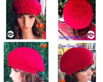 Ladies Handmade Beret Red