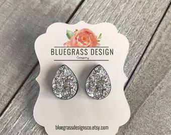 Teardrop Druzy Earrings