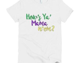 T-SHIRT, TEE, Mardi Gras, New Orleans, NOLA, New Orleans Talk, Short sleeve women's t-shirt, Sizes S-2X