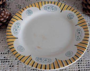 """Compote or fruit bowl """"Djemila"""" porcelain Art Deco shower base. The 20's. HB - CM. France."""