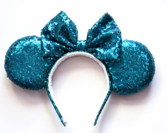 Turquoise Sequin Ears