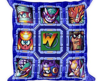Mega Man 7 Robot Masters Pillow