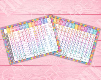 Size Chart | Postcard | Rainbow Triangles | Customize | Style Card