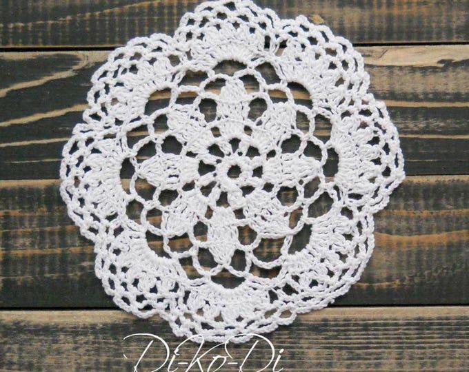 Crochet lace doily, white doily, crocheted decoration, crochet table decor, decorative crochet, white cotton doily, crochet ornaments, lacey