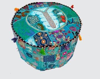 Pouf,Handmade Ottomans,ottoman,zafu,Moroccan Pouf,Foot-rest, Hand-stitched Pouf,stool,pouf ottoman,pouf ottoman,zafu puff,bean bag ottoman