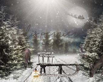 Christmas Digital background
