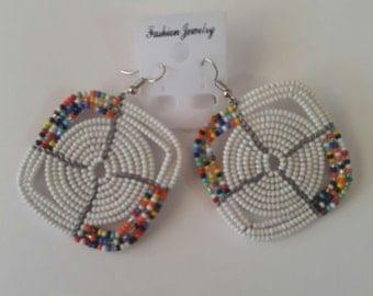 maasai earrings / tribal earrings / african earrings / colorful earrings / beaded earrings