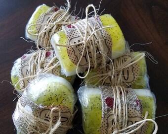 Lemon Poppy Seed Handmade Soap with real Lemon Cest