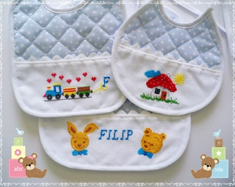Bibs (Baby Bibs)-Cross Stitch