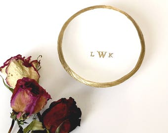 Monogram Jewelry Dish / Personalized Jewelry Dish / Personalized Ring Dish / Gifts for Her / Bridesmaids Gift / Custom Jewelry Dish