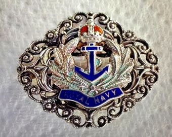 WW11 Royal Air Force - Filigree Brooch - Great Condition