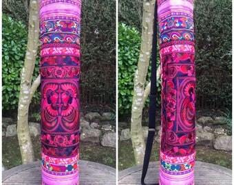 Bohemian yoga mat bag, embroidered bag, boho bag, Hmong bag, bohemian bag, hippie, ethnic bag