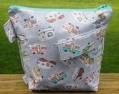 Camping RV Knitting Project Bag/ Pockets