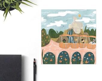 People Mover Disney Art Print, Disney Christmas Gift, Retro Disney Parks, Co-Worker Christmas Gift Idea, Disney Lover Gift, Matterhorn Art